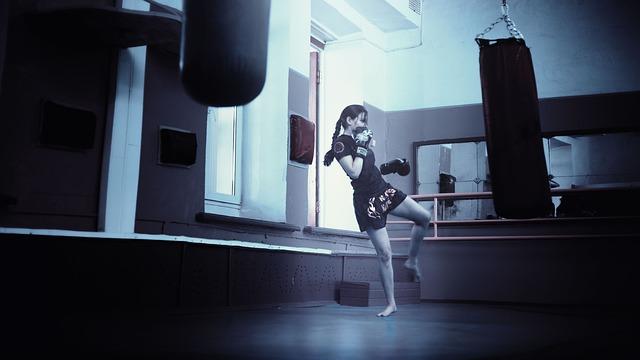 kickboxer děvče